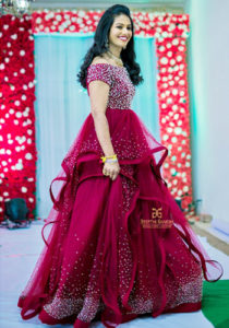 Burgundy Wedding Dresses in Hyderabad