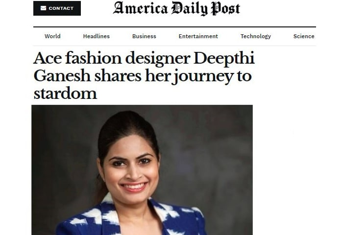 America Daily Post About Deepthi Ganesh