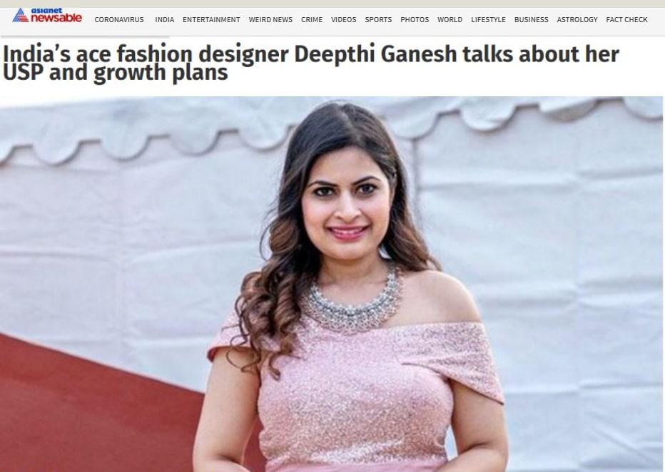 AsiaNet News About Deepthi Ganesh