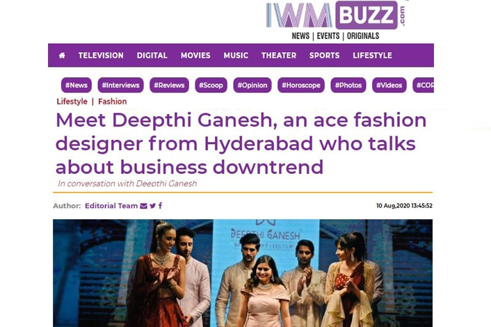 IWMBuzz Deepthi Ganesh talking About Business Downtrend