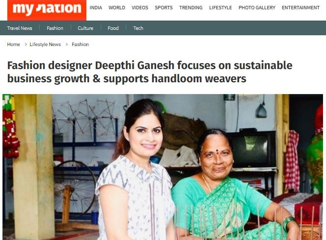 myNation article about Deepthi Ganesh Featured