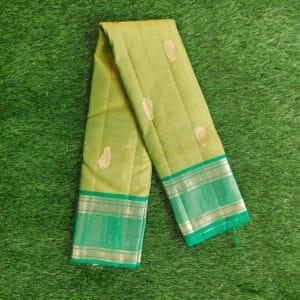 Kanchivaram Color - Pistachio-Green With Contrast Parrot-Green Border