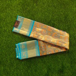 Kanchivaram Tissue Color - Self Aqua-Blue