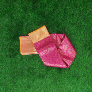 Kanchivaram Color - Pink With Contarst Yellow Border