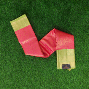 Kanchivaram Color - Pink With Contrast Parrot Gareen