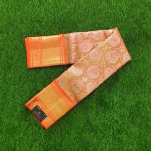 Kanchivaram Tissue Color - Bright Orange